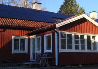 Solceller på K-märkt hus i Bålsta