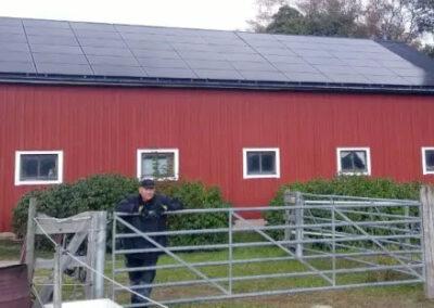 Lantbruk Fjärdhundra 18 kW solceller