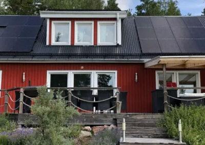 Solcellsmontage i Harbo (Heby kommun) 15,6 kW